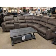 6 Piece Reclining Sectional Tweed Coffee