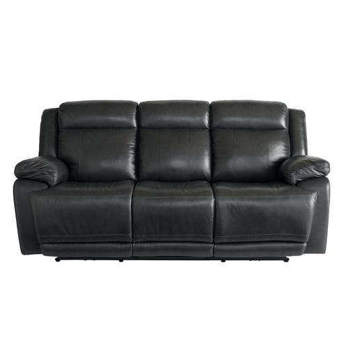 Evo Graphite Leather Power Reclining Sofa with Power Head & Footrests