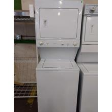 "27"" GE (GAS)Stacked Laundry Center (This may be a Stock Photo, actual unit (s) appearance may contain cosmetic blemishes. Please call store if you would like additional pictures). This unit carries our 6 Month warranty, MANUFACTURER WARRANTY and REBATE NOT VALID with this item. ISI  38531 B"