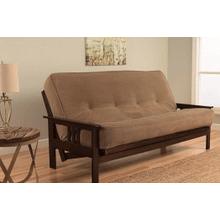 See Details - Kodiak Full size Monterey Futon in Espresso Finish w/Marmont Mocha mattress    (62617,62885,62886)