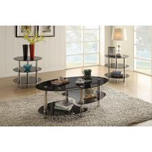 View Product - Berlin - 3 PC Cocktail Table Set - Glass