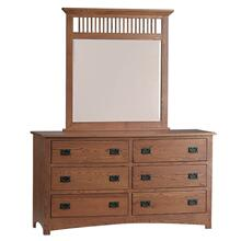 "Mission Mirror for 63"" Dresser (Available in a Variety of Colors and Wood Stains)"