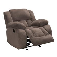 VOGUE PX2905-01G Comet Chocolate Glider Recliner