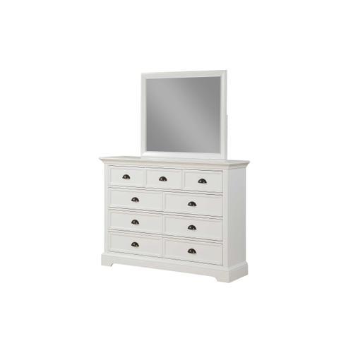 9 Drawer White Dresser