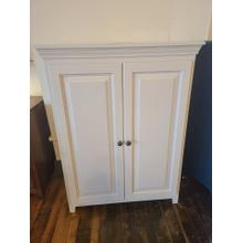 View Product - Pine 2 Door Jelly Cabinet - Sand Dollar