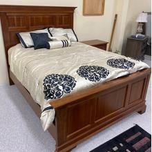 View Product - Bedroom Group Set Includes: Queen Panel Bed, High Dresser, Mirror & Nightstand