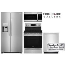Frigidaire Gallery Smudge-Proof Stainless Kitchen Package with Side By Side