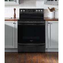 Frigidaire 30 Inch Freestanding Electric Range in Black Stainless Steel