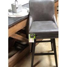 "Skyla 30"" Grey Leather Barstool"