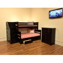 Twin / Full Bunkbed Black Cherry