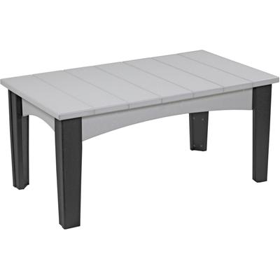Island Coffee Table Dove Gray and Black