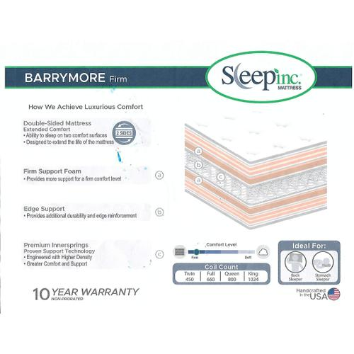 - American Bedding LEGACY Barrymore Firm 2 Sided Mattress