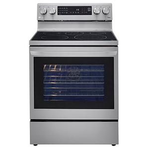 6.3 cu ft. Smart Wi-Fi Enabled True Convection InstaView® Electric Range with Air Fry Product Image