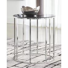 Clenco Black/Chrome End Table
