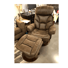 West Brown Swivel Recliner w/ottoman 847-70
