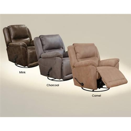 Catnapper - Cole - Chaise Swivel Recliner - Charcoal 1153-18