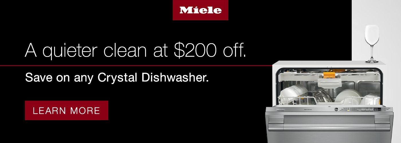 Save on any Crystal Dishwasher!