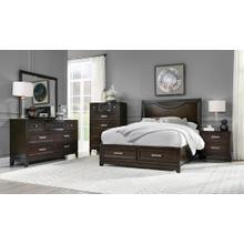 View Product - Malta Queen Bedroom Set (includes: Bed, Dresser, Mirror & 1-Nightstand)