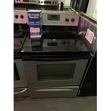 4.8 cu. ft. Capacity Electric Range with Self-Cleaning System (This is a Stock Photo, actual unit (s) appearance may contain cosmetic blemishes. Please call store if you would like actual pictures). This unit carries our 6 month warranty, MANUFACTURER WARRANTY and REBATE NOT VALID with this item ISI 36674 B