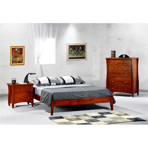 P-Series Basic Bed in Cherry Finish - Full