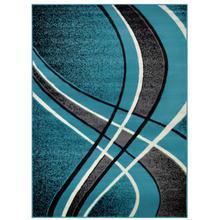 See Details - Medium - Contempo Turquoise 5x8 Rug