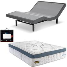Leggett & Platt S-Cape 2.0 Adjustable Bed, Bedboss Revolution Hybrid Mattress, and set of Dreamfit Sheets