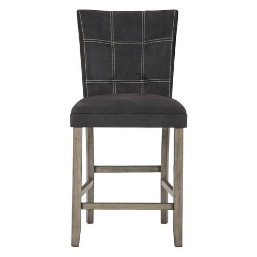 Dontally - Two-tone - 5 Pc. - Square Counter Table & 4 Upholstered Barstools