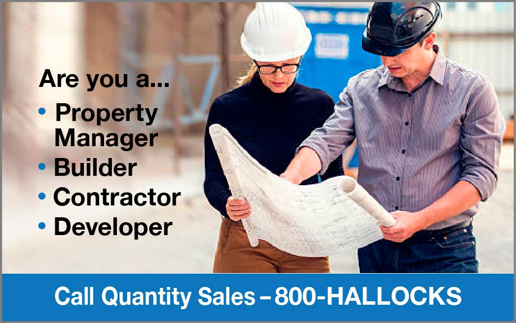Call Quality Sales Toll Free 800-HALLOCKS