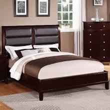 Bonded Leather Designer King Bed Frame