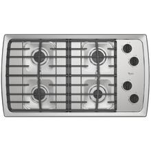 Whirlpool 36-inch Gas Cooktop with Cast-Iron Grates