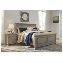 Ashley Lettner, Light Gray Queen Bedroom Set: Includes Queen Bed, Nightstand, Dresser & Mirror