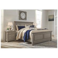 See Details - Ashley Lettner, Light Gray Queen Bedroom Set: Includes Queen Bed, Nightstand, Dresser & Mirror