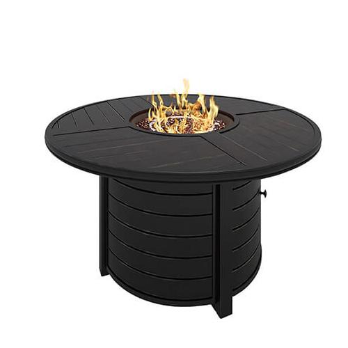 """Castle Island 48"""" Round Fire Pit Table"""