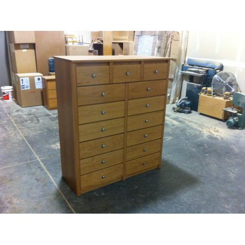 Gallery - Shaker 7 Drawer Tall Chest in Cherry Wood