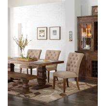 NORMANDY ISLAND COUNTER TABLE   4 CHAIRS