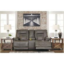 Wurstrow PWR REC Loveseat with Console & ADJ Headrest - Smoke