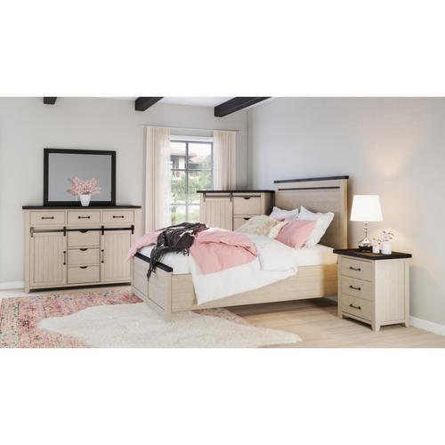 Jofran - Queen Bed, Dresser, Mirror, Chest and Nightstand
