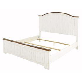 Wystfield Queen Panel Bed White/Brown