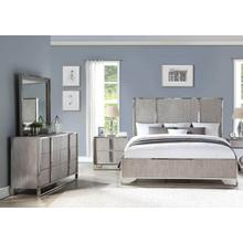 Grand Loft King Bedroom Set: King Bed, Nightstand, Dresser & Mirror