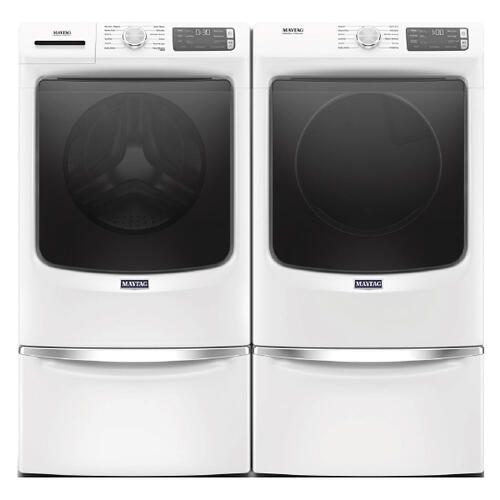 MAYTAG 4.8 cu. ft. Front Load Washer  7.3 cu. ft. Electric Dryer with pedestals