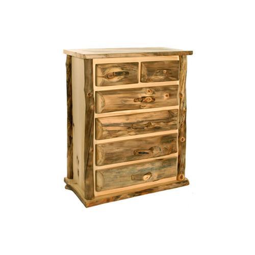 House Lodge Collection - Aspen Kodiak Split Top 6 Drawer Chest
