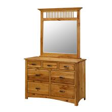 Mission 7 Drawer Dresser with Mirror