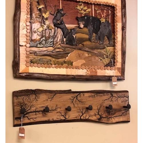 Home Accents - Hand-carved wall decor.