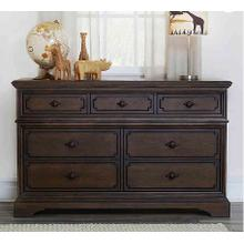 Amherst 7-Drawer Dresser - Burnt Oak