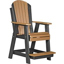 Adirondack Balcony Chair Cedar and Black