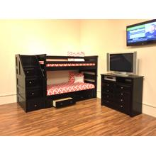 See Details - Twin / Twin Bunkbed Black Cherry