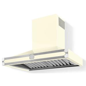 Lacornue Cornufe - Blanc Albertine 90 Hood with Polished Chrome Accents