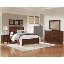 King Cherry 4 PC Bedroom Set - Panel Bed
