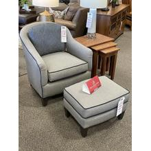 Smith Brothers Upholstered Chair & Ottoman