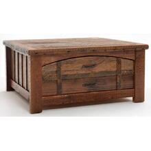 Heritage Sawtooth 2 Drawer Coffee Table w/ Curved Drawer